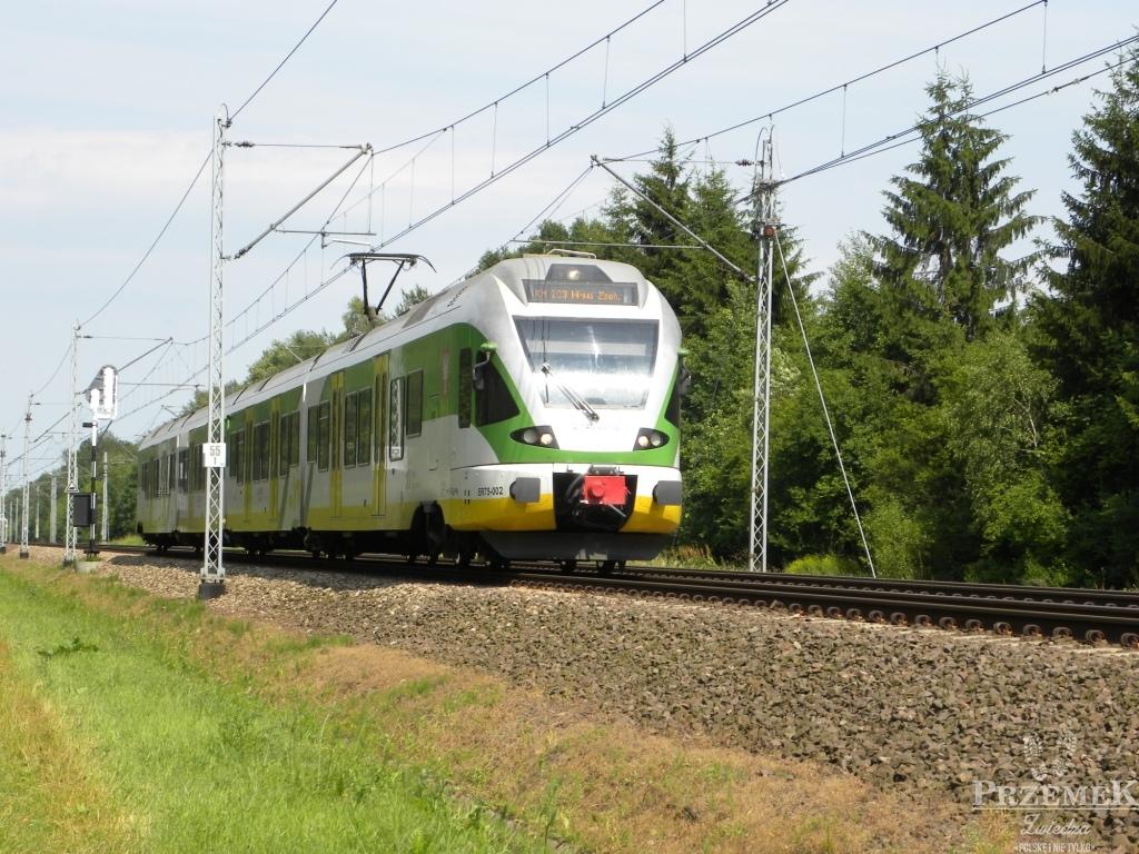 Pociąg Kolei Mazowieckich - zdjęcie Kalina W. ek-art.pl