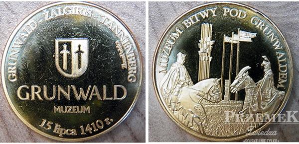 moneta pamiątkowa awers i rewers grundwald 2014