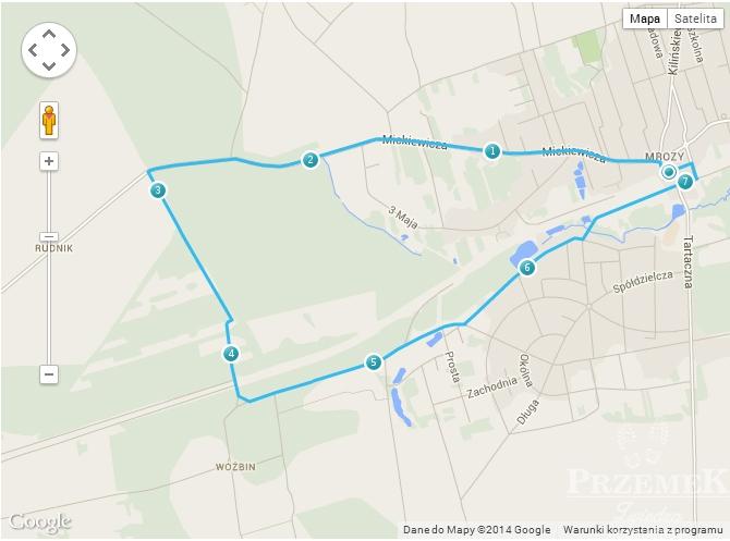 Zaplanowana trasa wycieczki - 7,39 km