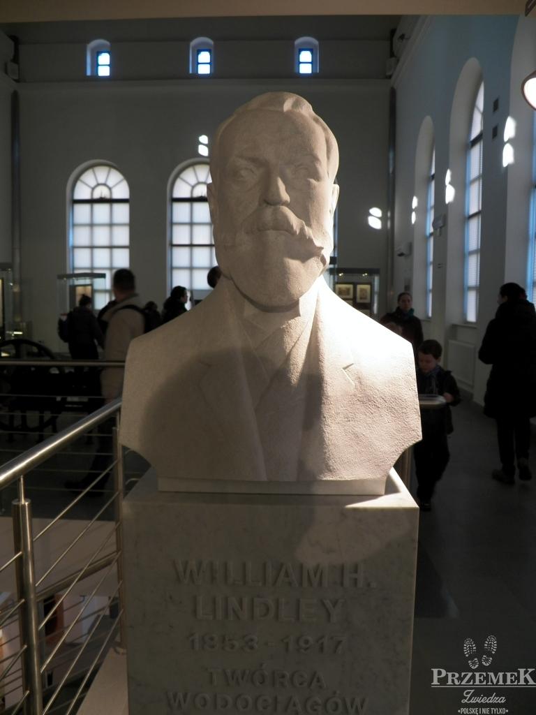 Popiersie Williama Lindley'a stacja filtrów w warszawie