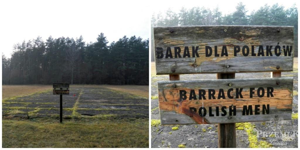 Miejsce, którym stał barak dla Polaków w Karnym Obozie Pracy treblinka