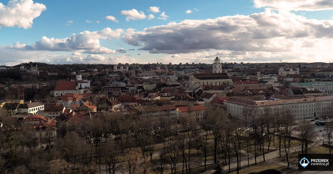 Wilno widok ze Wzgórza Giedynima na Stare Miasto