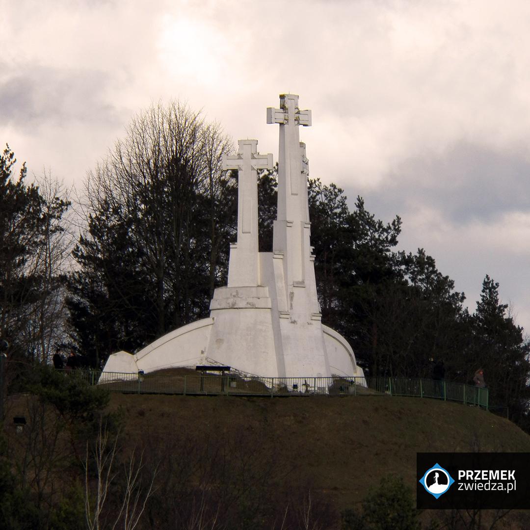 Wilno Widok na krzyże z Góry Giedymina
