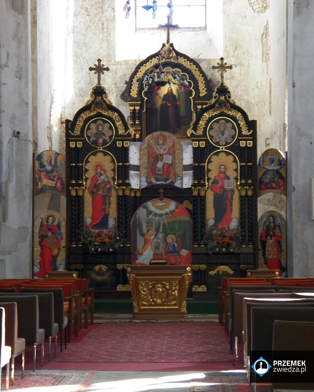 Wilno Wnętrze cerkwi św. Trójcy