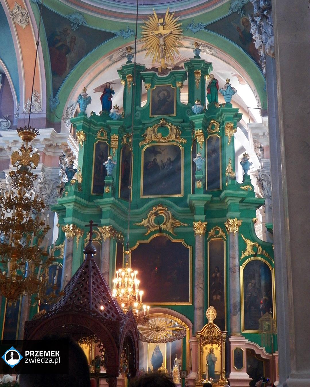 Wilno Wnętrze cerkwi św. Ducha