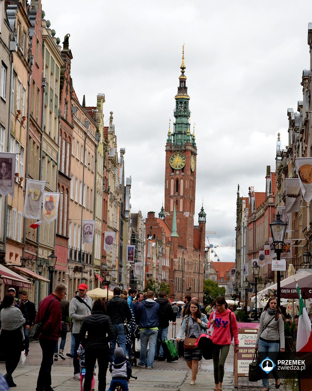 kamienice ulica długa ratusz głównego miasta gdańsk