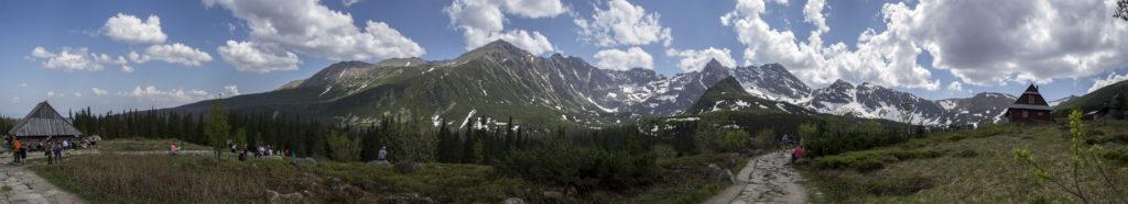 panorama hala gąsienicowa góry szczyty