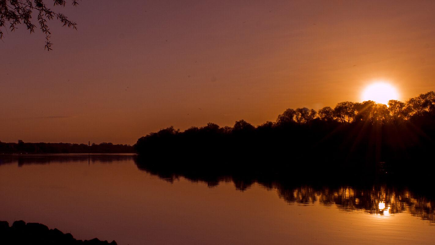 zachód słońca nowy dwór mazowiecki przemekzwiedza blog